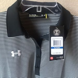 Under Armour Women's Clubhouse Polo Black Stripes
